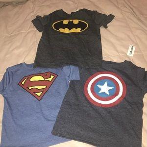 3- Toddler boy super hero shirts